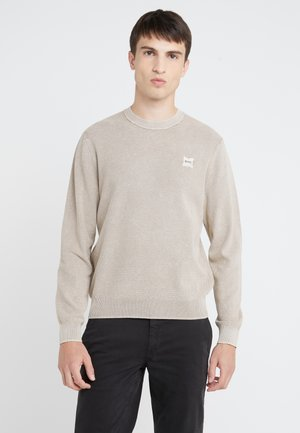 KALASSYO - Stickad tröja - light beige
