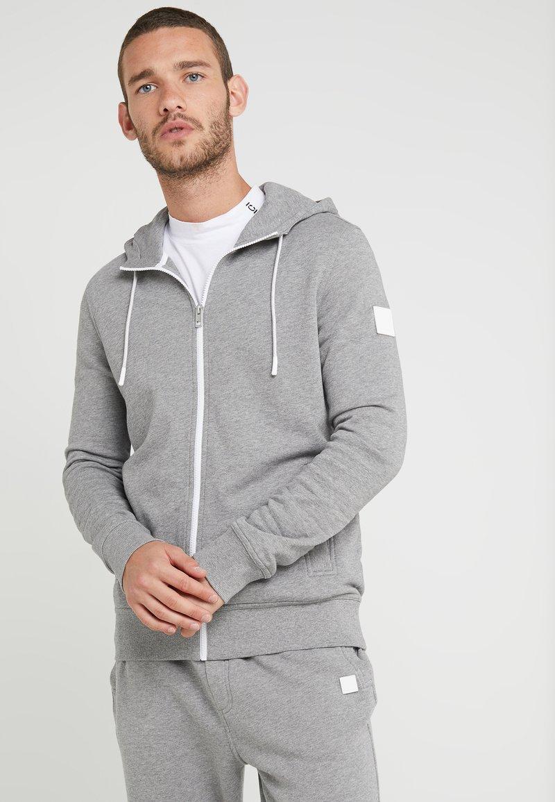BOSS - ZOUNDS - Zip-up hoodie - light pastel grey