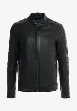 JAGSON - Kožená bunda - black