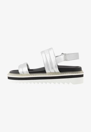 ALICANTE  - Platform sandals - silver