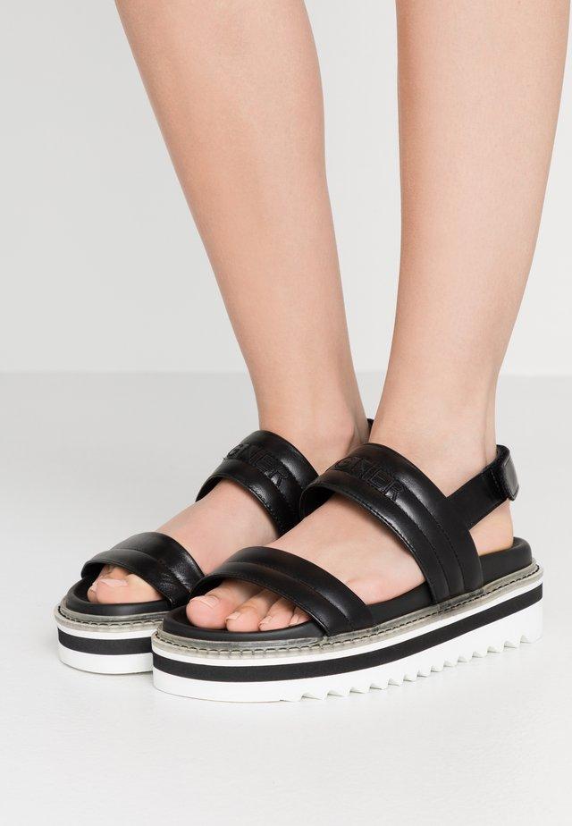 ALICANTE  - Sandalen met plateauzool - black