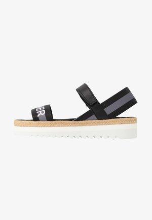 POSITANO - Loafers - black/white/grey