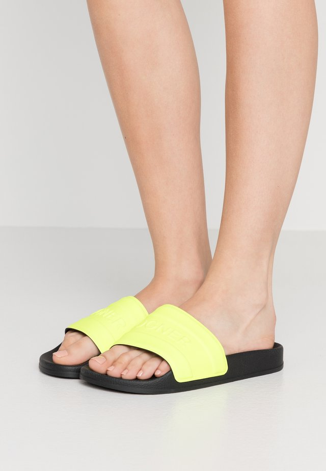 BELIZE - Pool slides - neon yellow