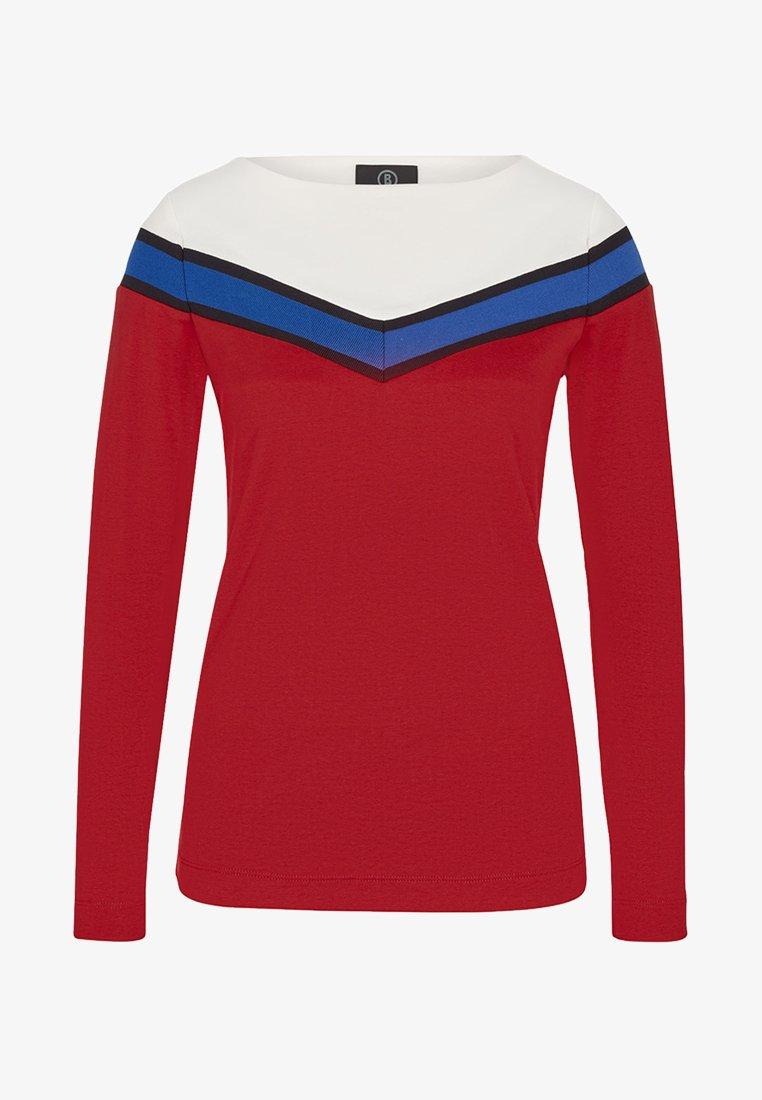 Bogner - VELANA - Long sleeved top - red/blue/off-white