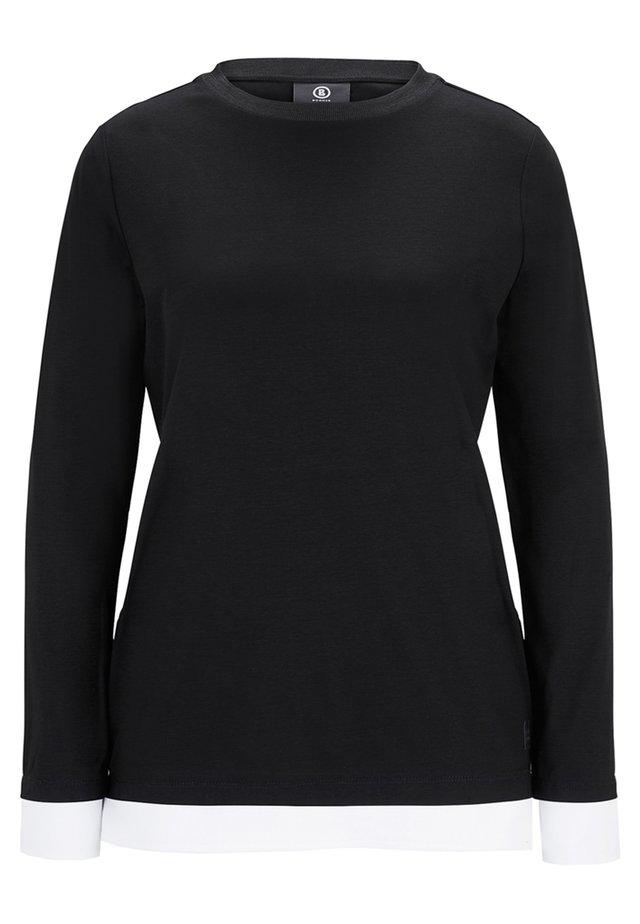 JUNA - Long sleeved top - black