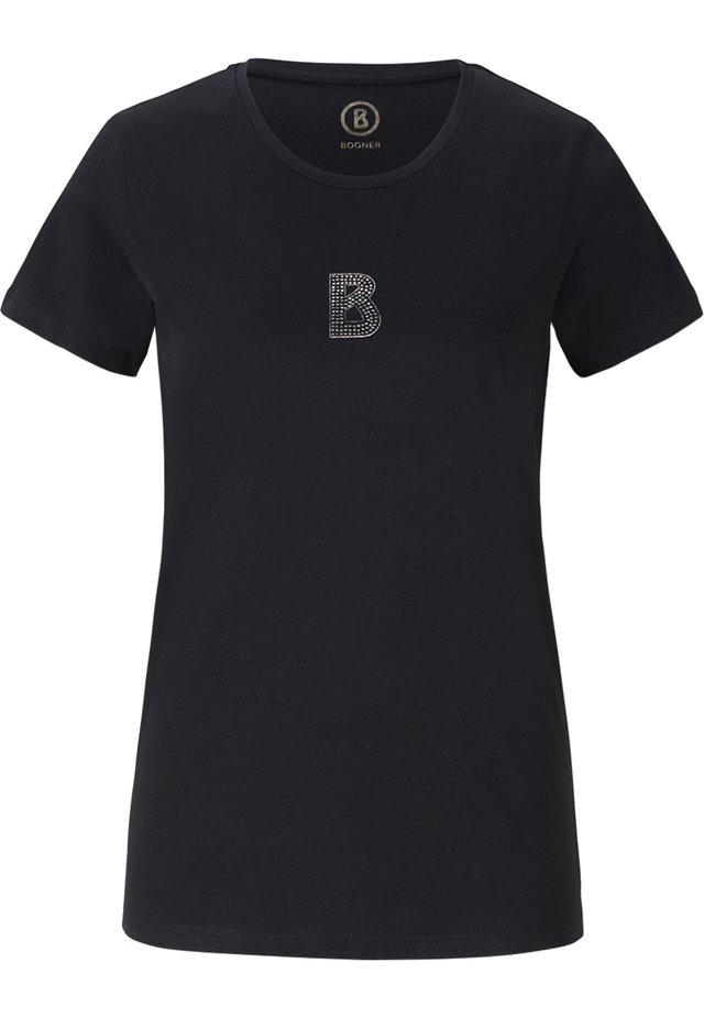 LINN - Basic T-shirt - schwarz