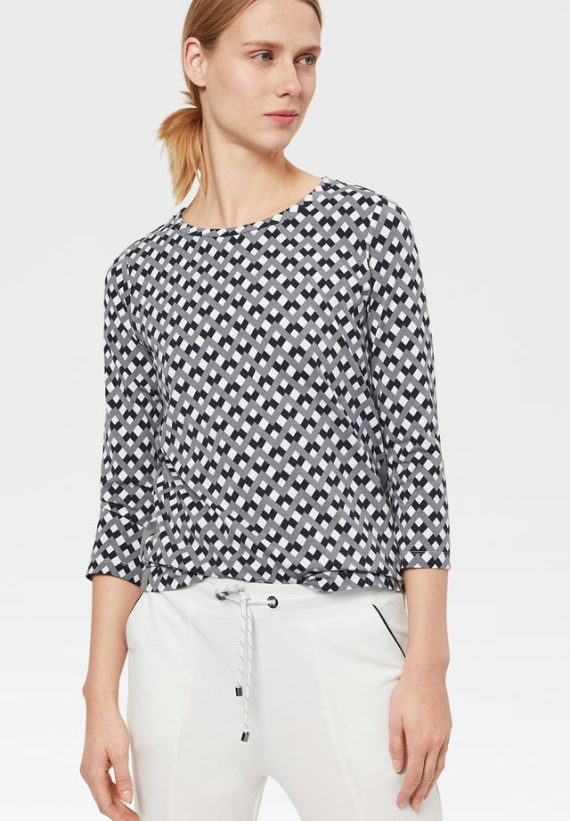 LONGSLEEVE INGA - T-shirt à manches longues - schwarz/grau/weiß