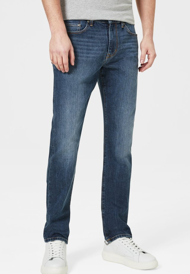 Straight leg jeans - mid denim blue