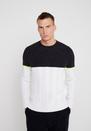 GARY - Strickpullover - white/anthracite