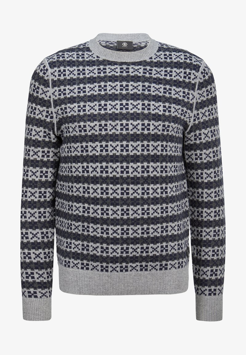 Bogner - Strickpullover - navy-blue/grey