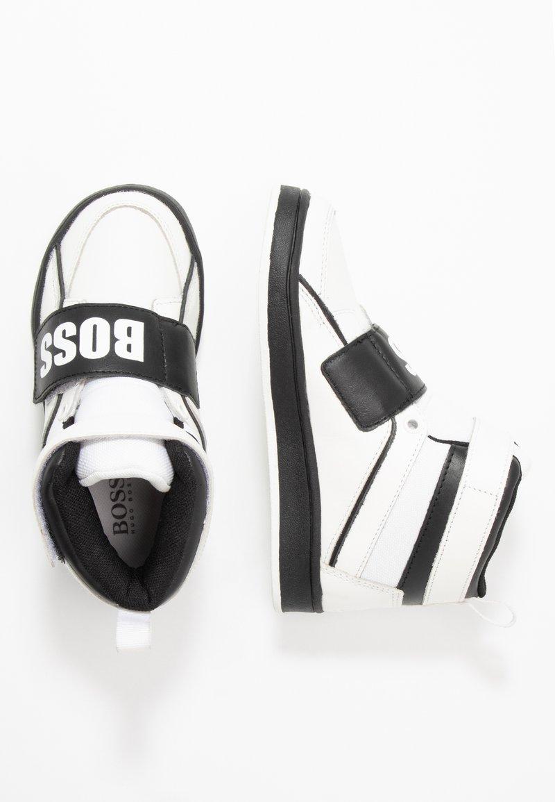 BOSS Kidswear - TURNSCHUHE - Sneakers hoog - schwarz/weiß