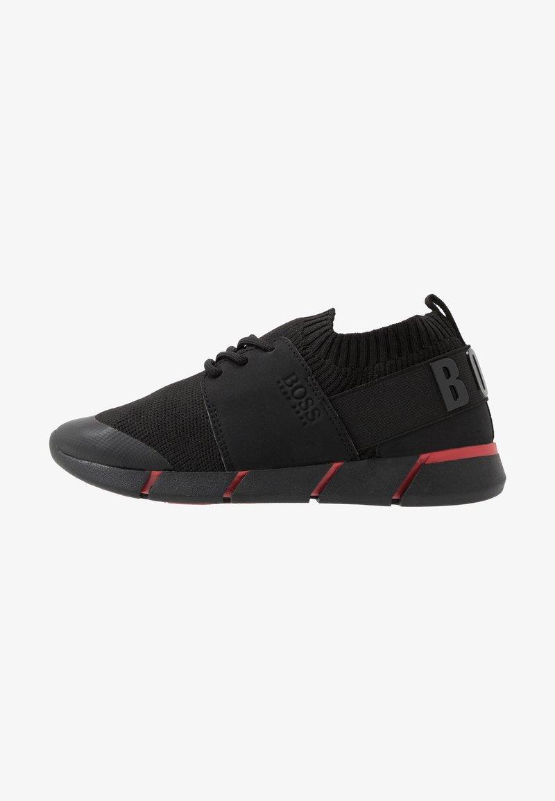 BOSS Kidswear - TRAINERS  - Matalavartiset tennarit - black