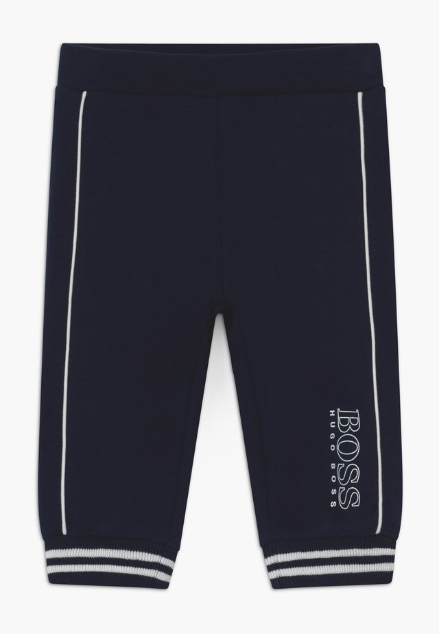 JOGGING BOTTOMS - Stoffhose - bleu cargo