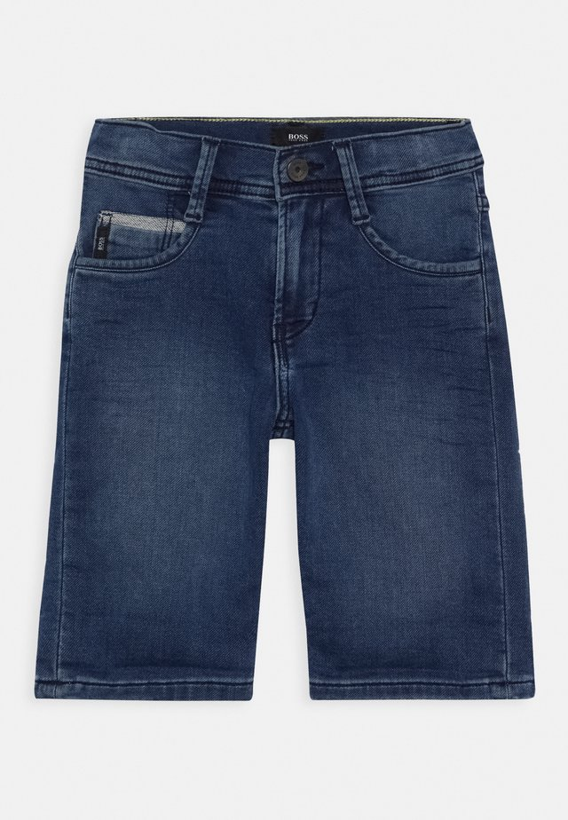 BERMUDA - Denim shorts - stone