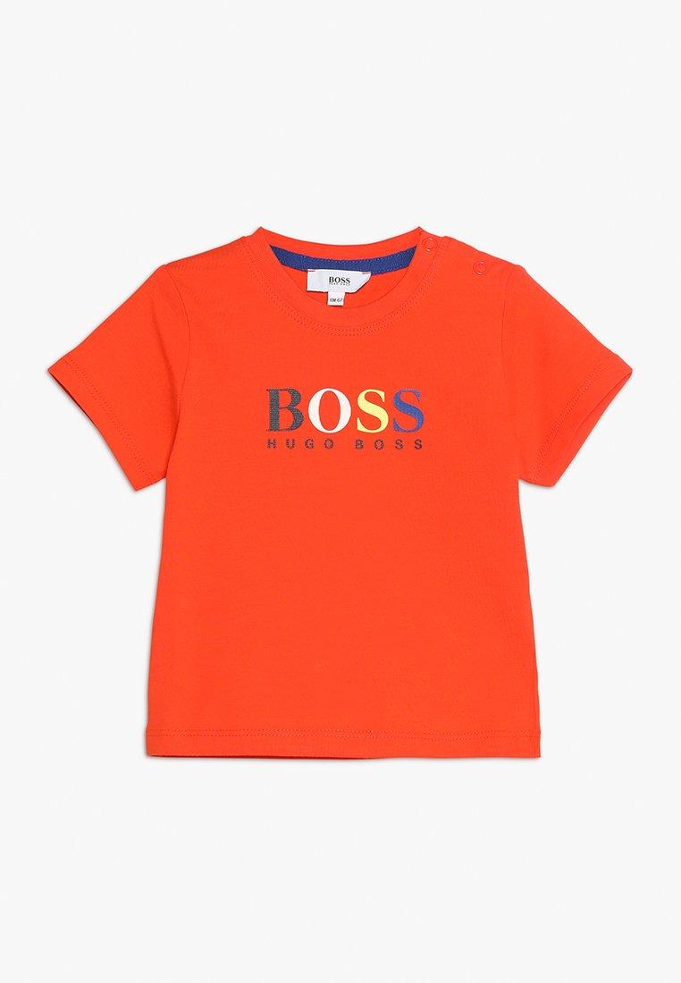 BOSS Kidswear - KURZARM - T-Shirt print - rotorange