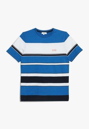 T-shirt med print - hellblau/marine