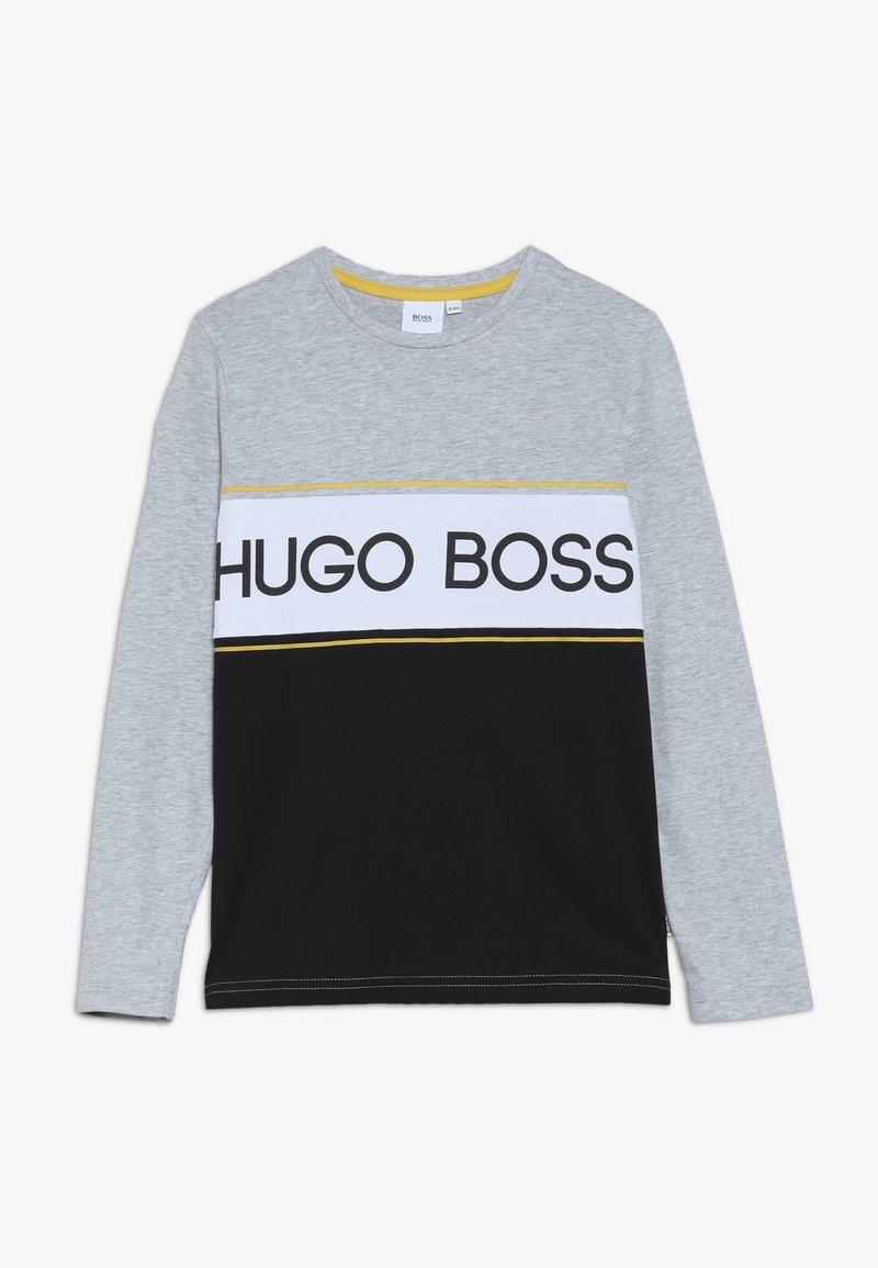 BOSS Kidswear - Longsleeve - grau/schwarz