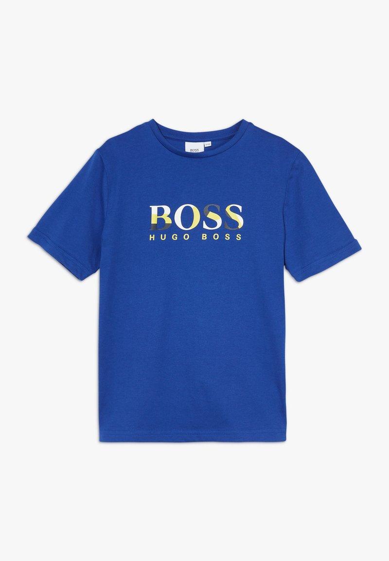 BOSS Kidswear - SHORT SLEEVES TEE - T-shirt imprimé - blue