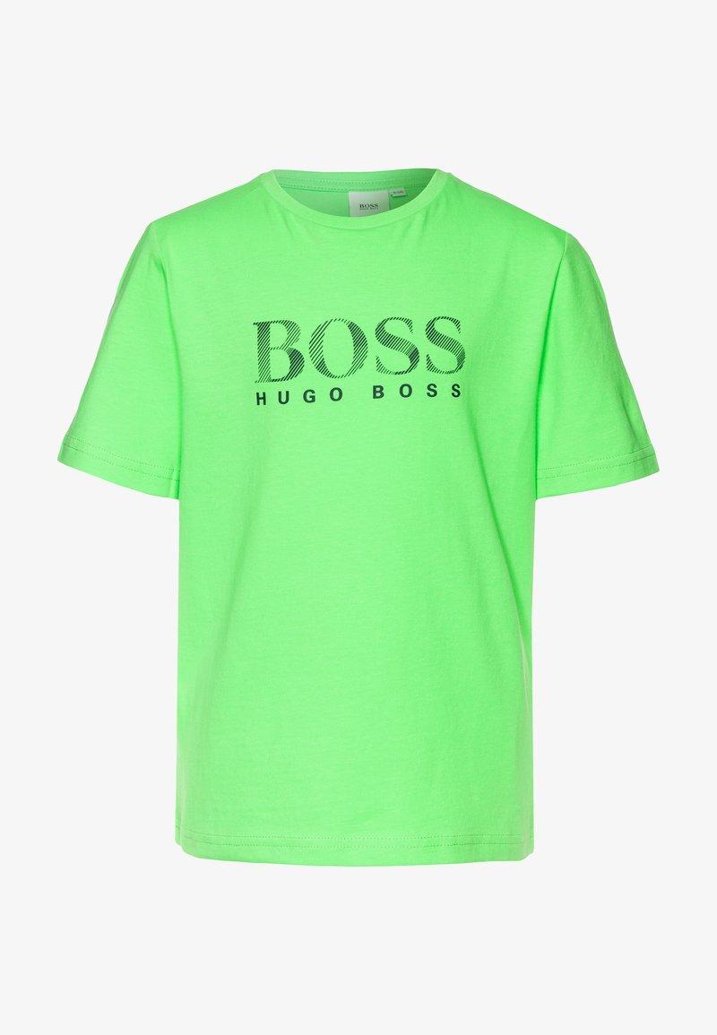 BOSS Kidswear - Triko spotiskem - sea green