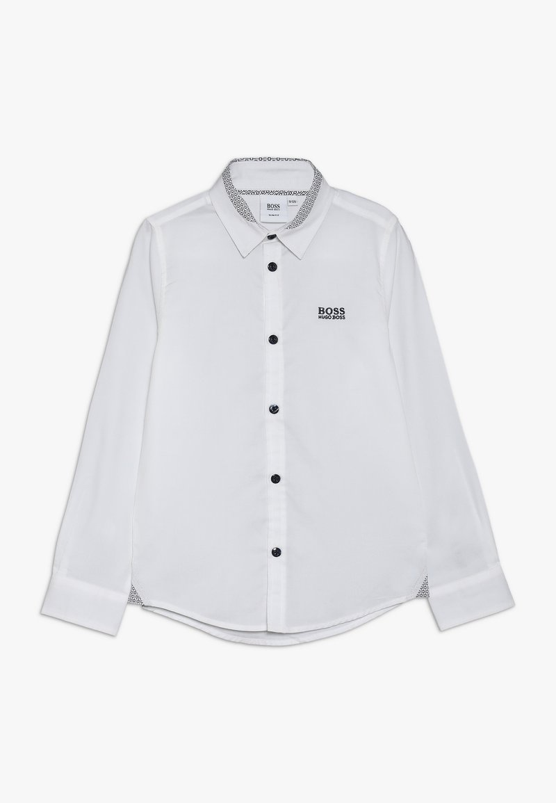 BOSS Kidswear - LANGARM SLIM FIT - Camisa - weiss