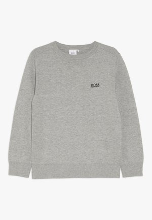 Stickad tröja - graumeliert