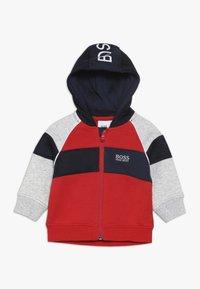 BOSS Kidswear - Hoodie met rits - new red - 0