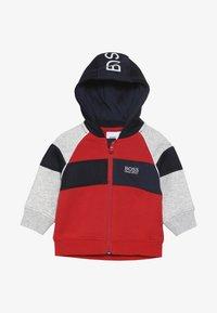 BOSS Kidswear - Hoodie met rits - new red - 2