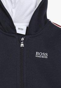 BOSS Kidswear - Hoodie met rits - blue cargo - 4