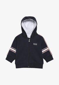 BOSS Kidswear - Hoodie met rits - blue cargo - 3