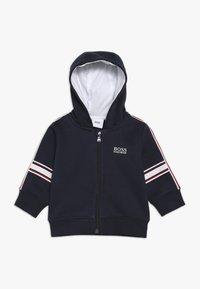 BOSS Kidswear - Hoodie met rits - blue cargo - 0