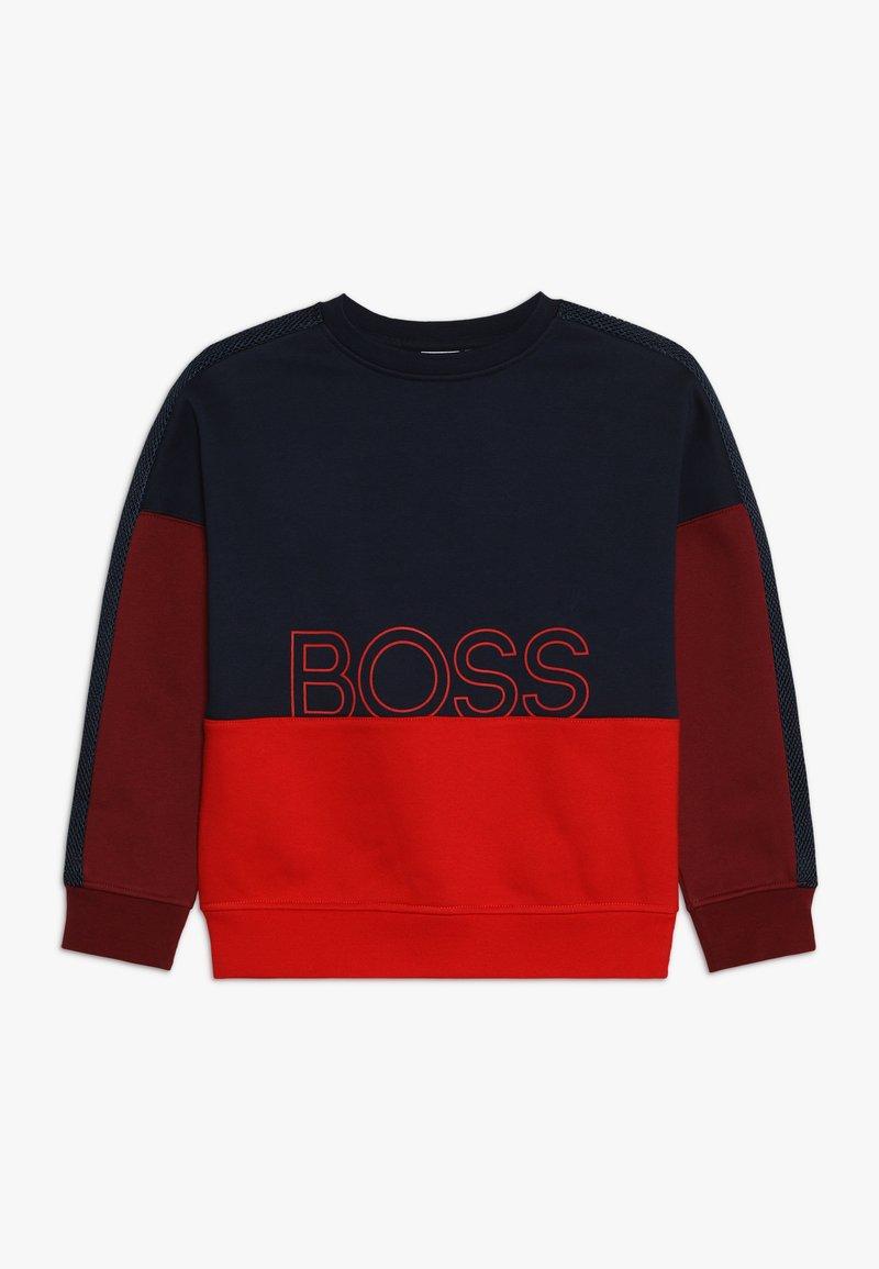 BOSS Kidswear - Sweater - rot/marine