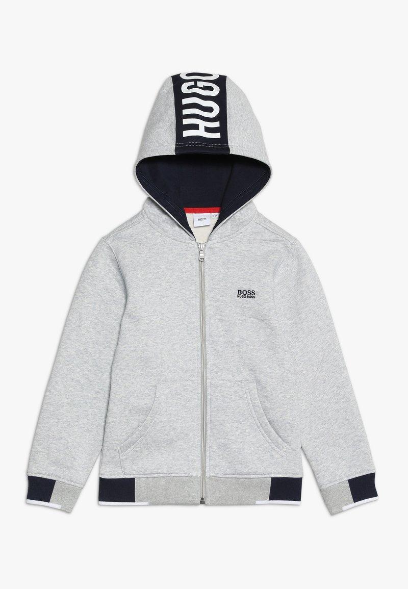 BOSS Kidswear - Huvtröja med dragkedja - hell graumeliert