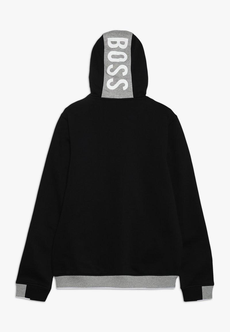 BOSS Kidswear - veste en sweat zippée - schwarz