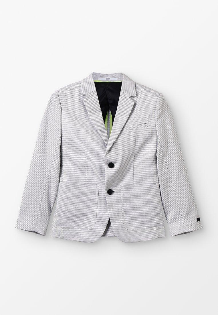 BOSS Kidswear - VESTE DE COSTUME - Sakko - grau/weiß
