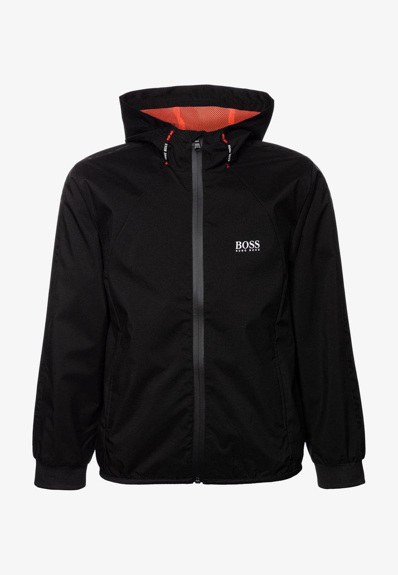 BOSS Kidswear - HOODED WINDBREAKER - Välikausitakki - black