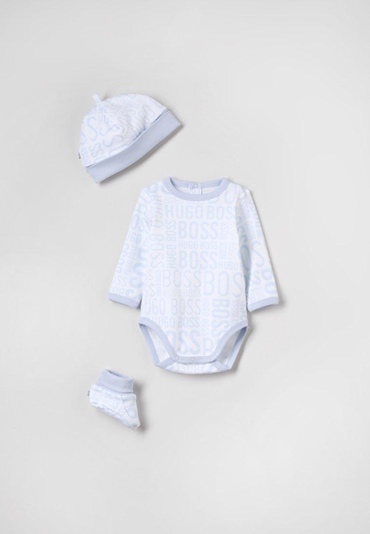 BOSS Kidswear - BABY SET - Geschenk zur Geburt - weiss/himmelblau