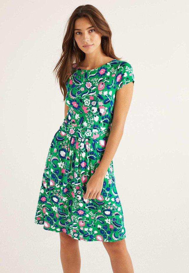 AMELIE  - Jersey dress - metallic green