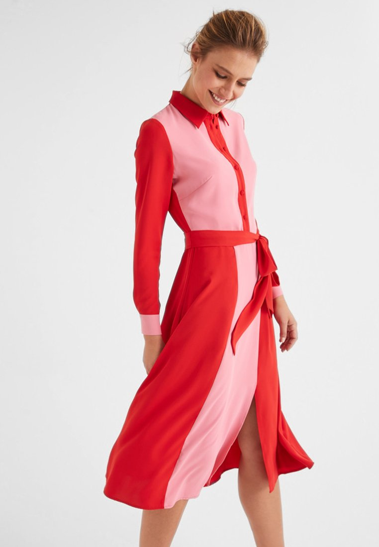 Boden - BETTY - Blusenkleid - crayon pink/signal red