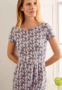 Boden - Jersey dress - weltraumgrau, tropenvogel - 2