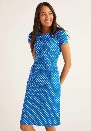 Jersey dress - mottled light blue