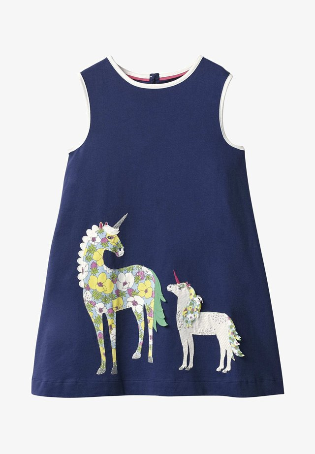 MIT RETROAPPLIKATION - Jersey dress - indigo blue