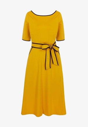 RUBY PONTE - Jersey dress -  sunbathe yellow