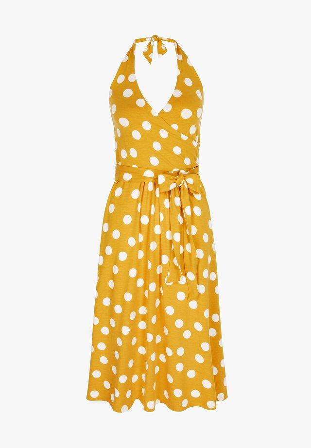 Jersey dress - sonnengelb, verstreute tupfen