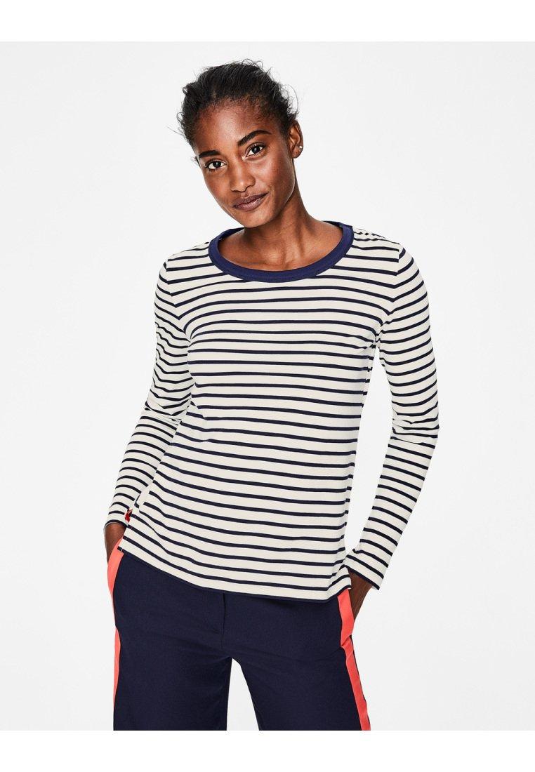 Boden - BRETONSHIRT - Long sleeved top - natural/navy