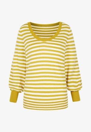 Sweatshirt - yellow/natural white