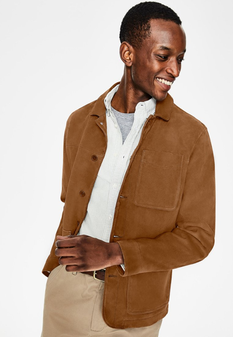 Boden - Leather jacket - brown