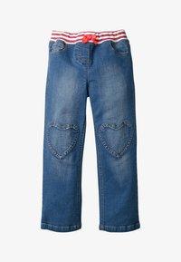 Boden - MIT HERZAUFNÄHERN - Straight leg jeans - rinsed denim - 0