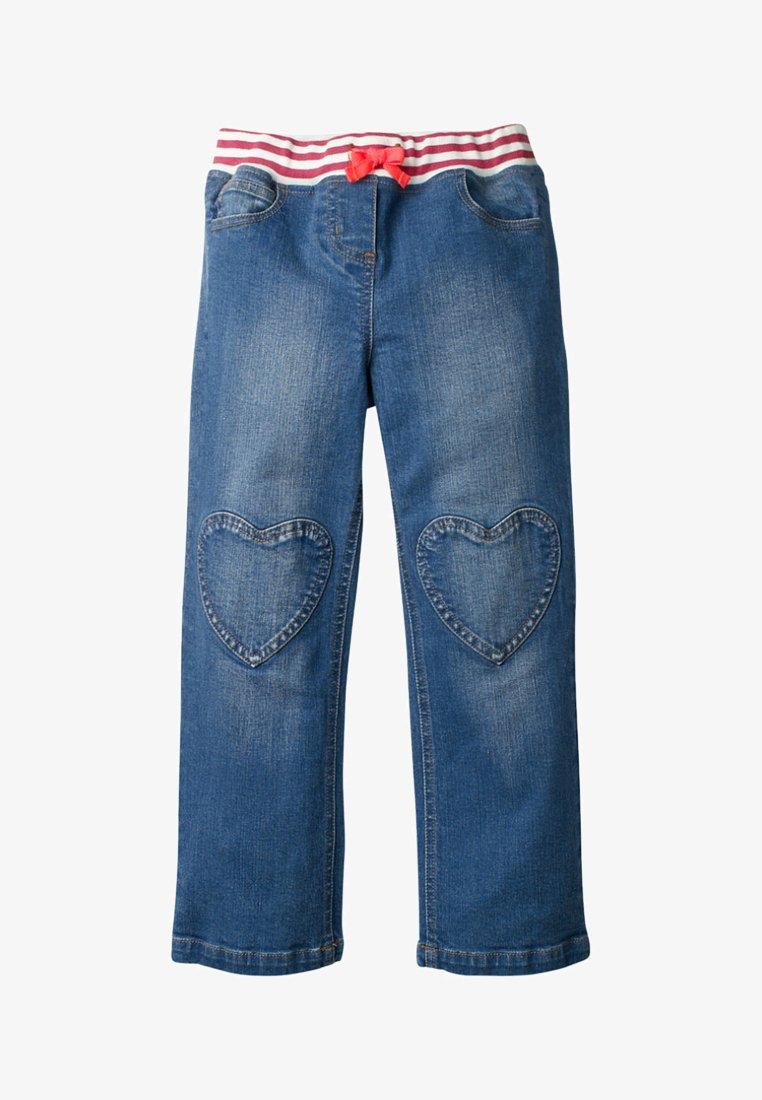 Boden - MIT HERZAUFNÄHERN - Straight leg jeans - rinsed denim