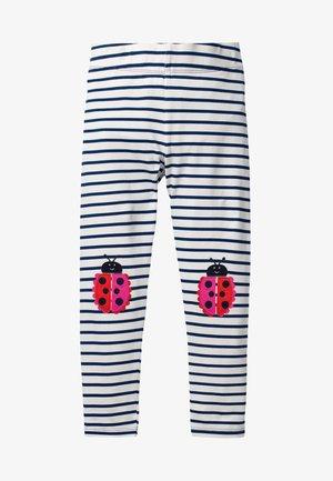 MIT APPLIKATION - Leggings - Trousers - natural white/dark blue