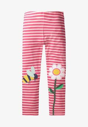MIT APPLIKATION - Leggings - Trousers - white/light pink